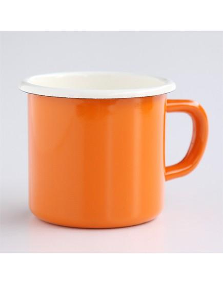 橘色   琺瑯杯   金屬材質