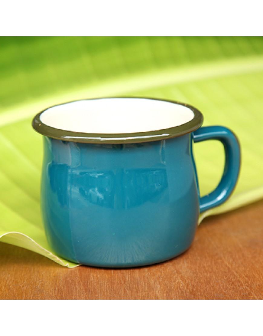 藍色 | 胖肚琺瑯金屬 | 馬克杯