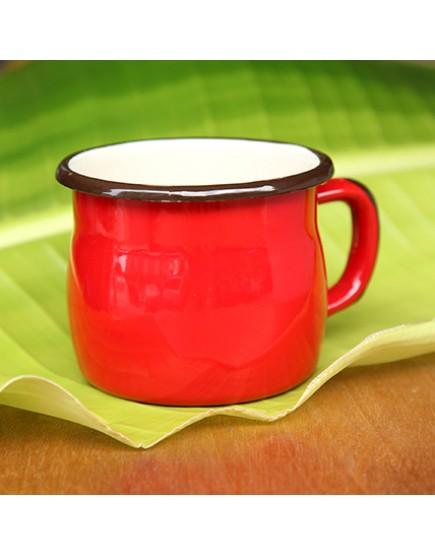 紅色   胖肚琺瑯金屬   馬克杯