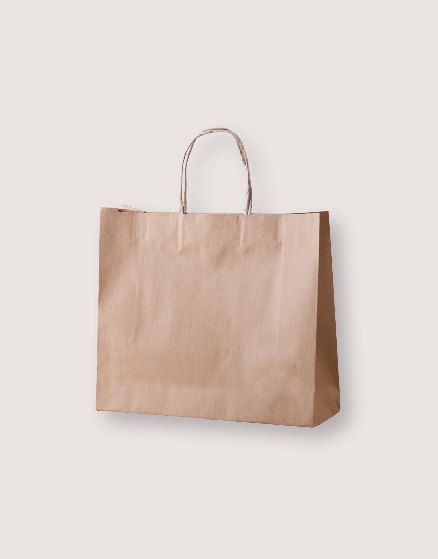 牛皮紙袋 | 紙繩手提 | L | 25入