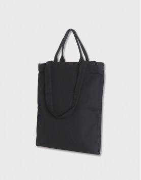 帆布兩用直式袋│拉鍊│單層內袋│黑色