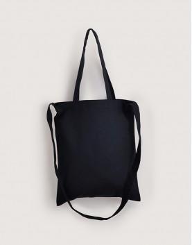 帆布直式兩用袋 | 黑色 | 單層款