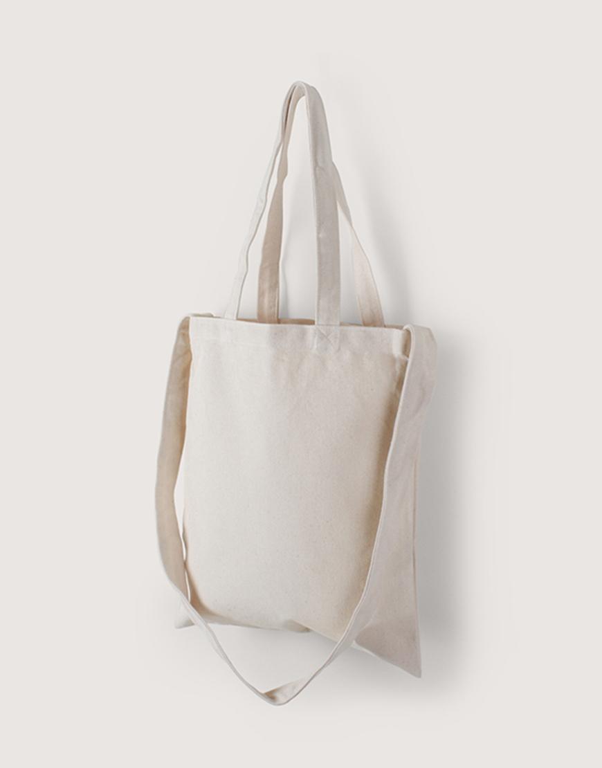 帆布直式兩用袋 | 中帆布