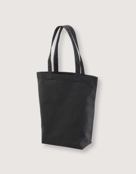 日系側背包 直式有底 黑色