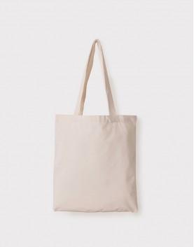 帆布手提包│米白色│直式布包│內裡內袋