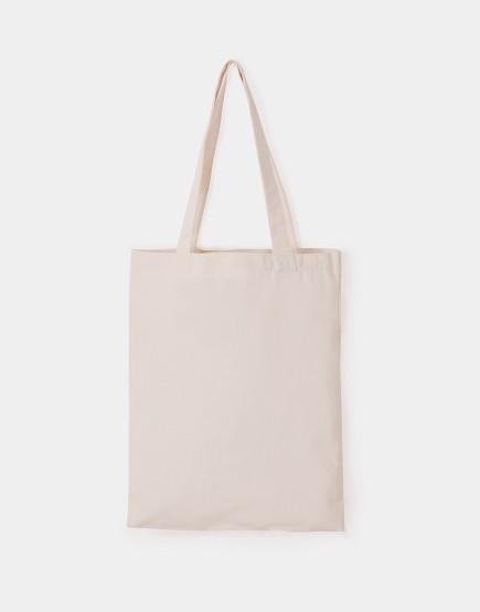 帆布手提包│米白色│直式布包│加大款