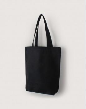 帆布直式袋 | 中帆布 | 黑色 | 單層有底款