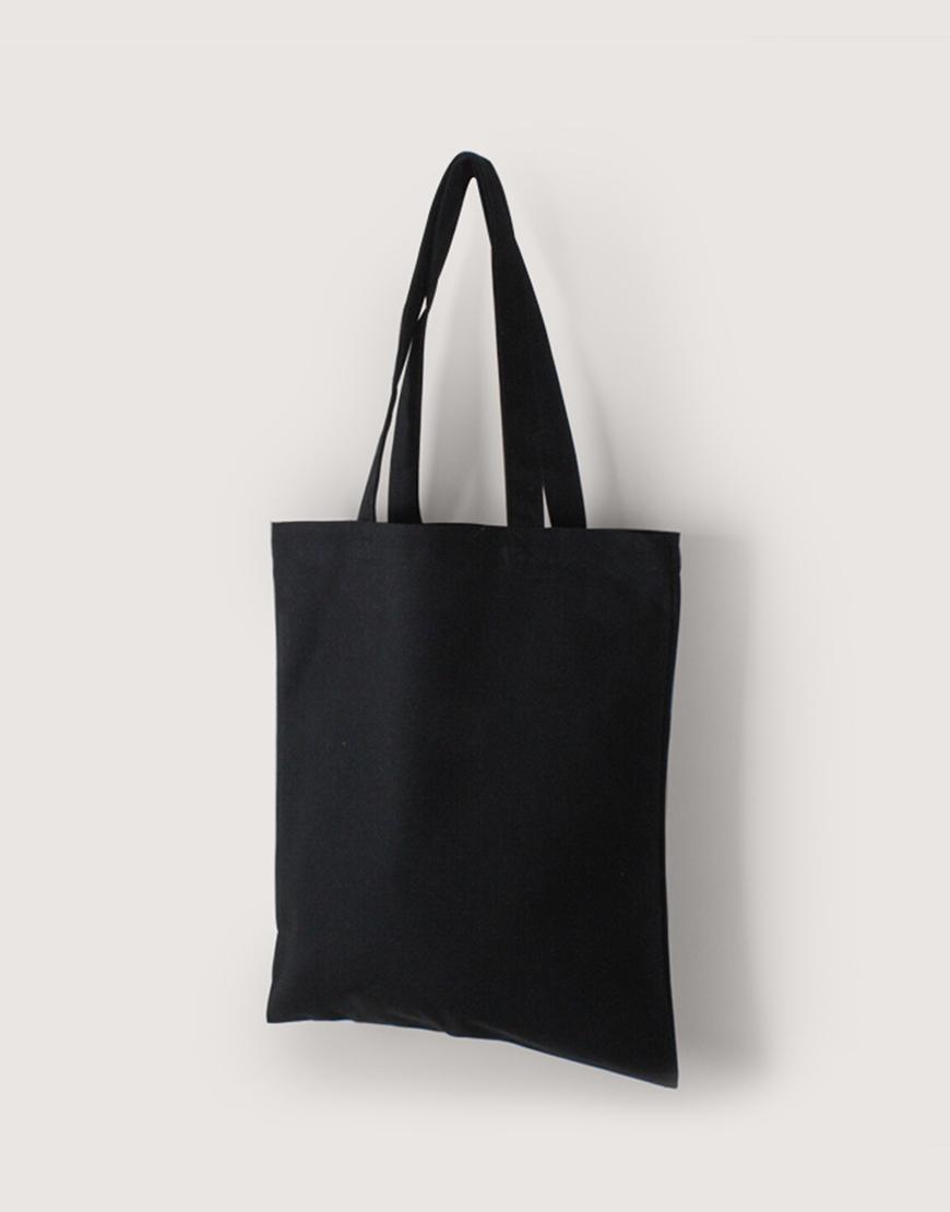 帆布直式袋   中帆布   黑色   單層款