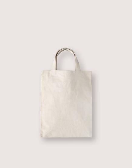 中帆布直式短提小包 | 織帶提把
