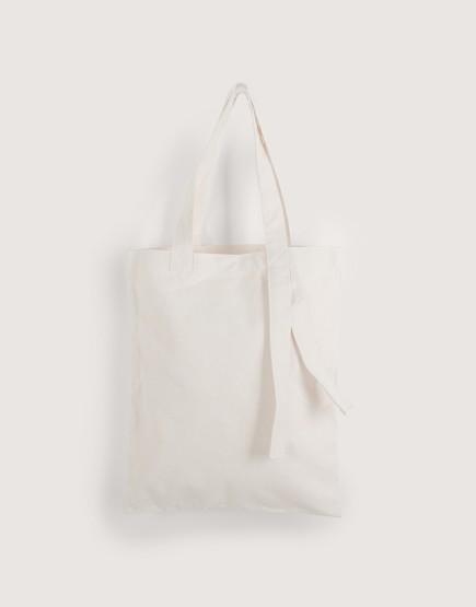 帆布直式袋 | 米白袋子+米白背帶
