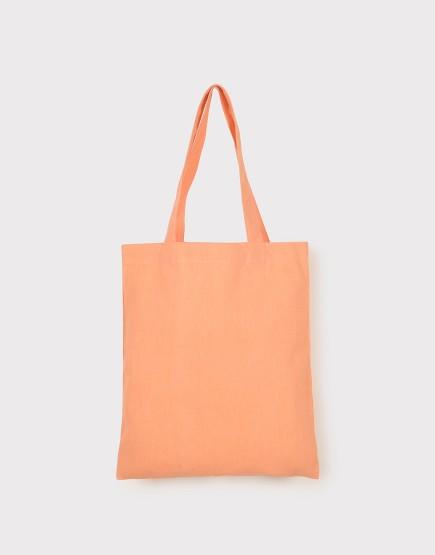 中帆布肩背包│多色│直式布包│橘紅