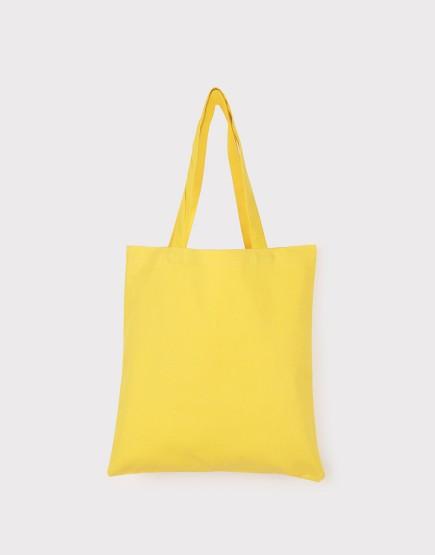 中帆布肩背包│多色│直式布包│黃色