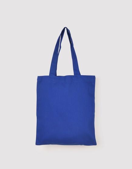 中帆布肩背包│多色│直式布包│深藍
