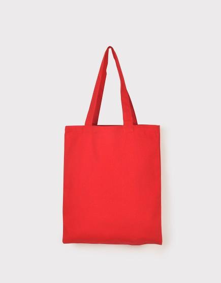 中帆布肩背包│多色│直式布包│紅色