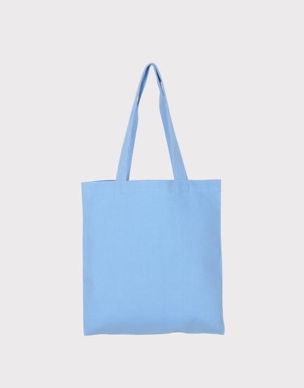 中帆布肩背包│多色│直式布包│淺藍