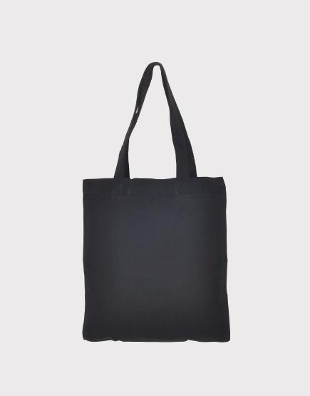 10帆布肩背包│直式布包│黑色