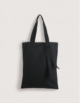 帆布直式袋   黑色袋子+黑色背帶