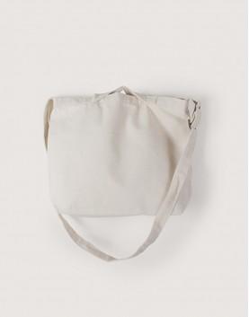 帆布橫式兩用袋 | 手提斜背 | 中帆布 | 米白色