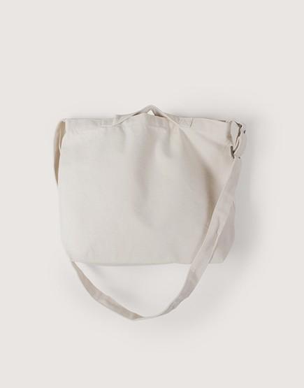 帆布橫式兩用袋 | 手提斜背 | 中帆布 | 米白色 | 銅扣款