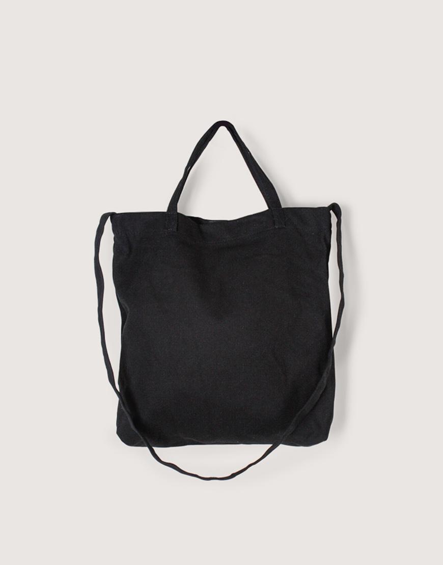 厚帆橫式袋│有底兩用袋│單層│黑色