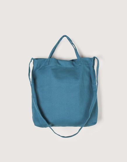 厚帆橫式袋│有底兩用袋│單層│藍綠