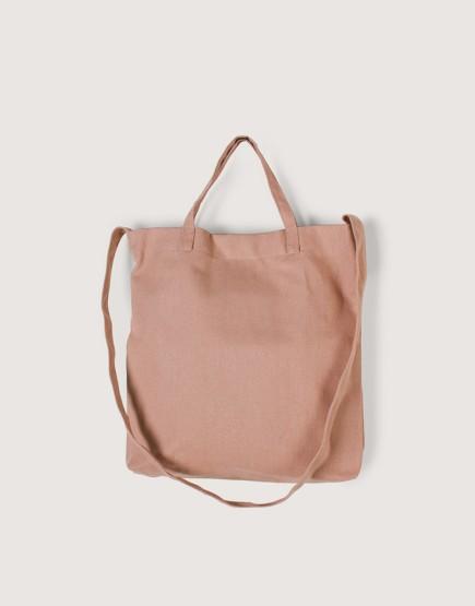 厚帆橫式袋│有底兩用袋│單層│灰橘