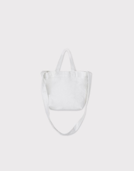 小朋友的兩用袋 | 帆布托特包 | 白色