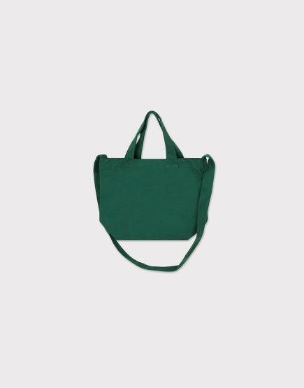 小朋友的兩用袋 | 帆布托特包 | 綠色