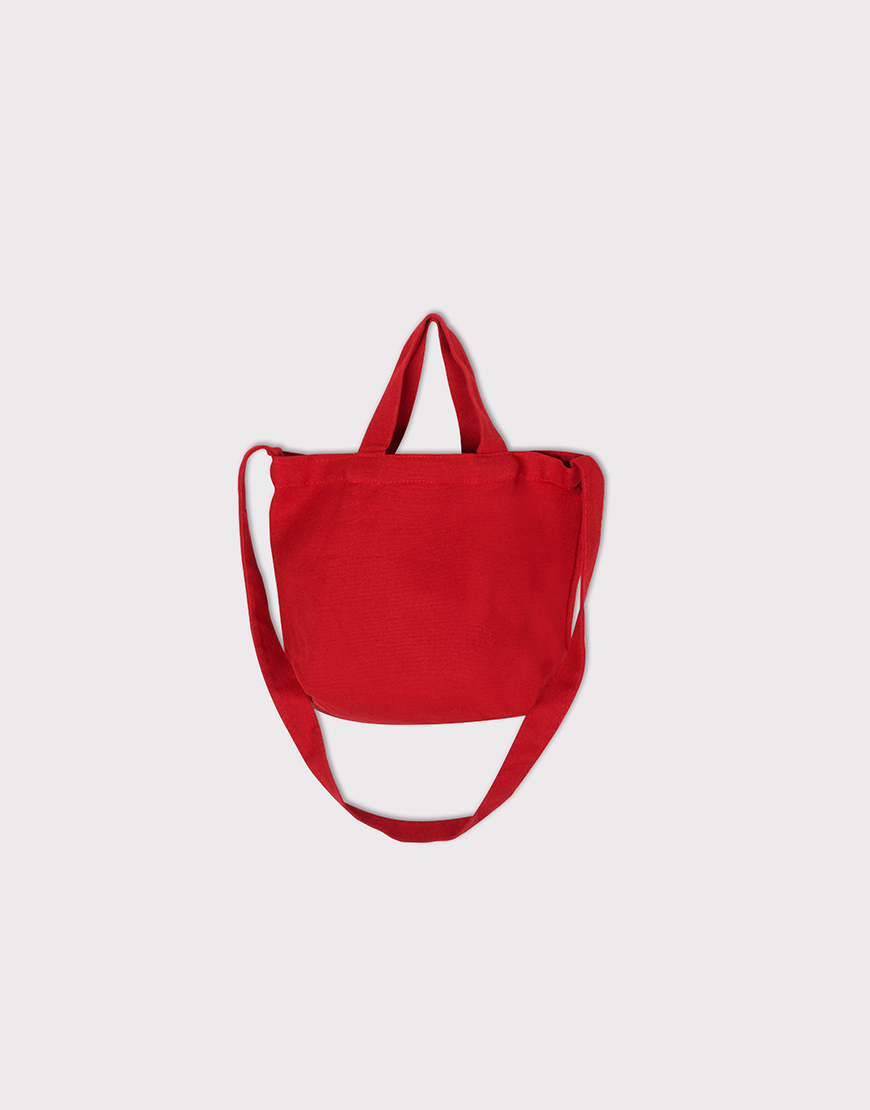 小朋友的兩用袋 | 帆布托特包 | 紅色
