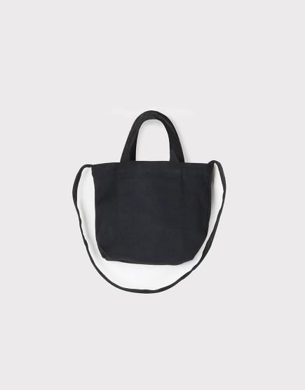 小朋友的兩用袋 | 帆布托特包 | 黑色