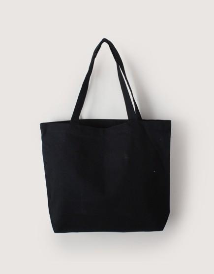 帆布橫式袋 | 中帆布 | 黑色