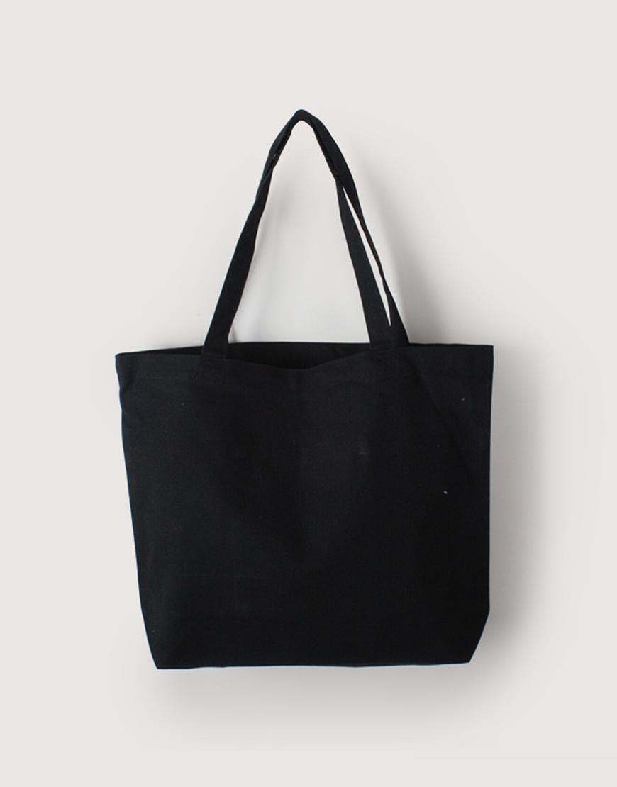 帆布橫式袋   中帆布   黑色