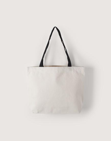 帆布橫式袋 | 中帆布 | 黑提袋款