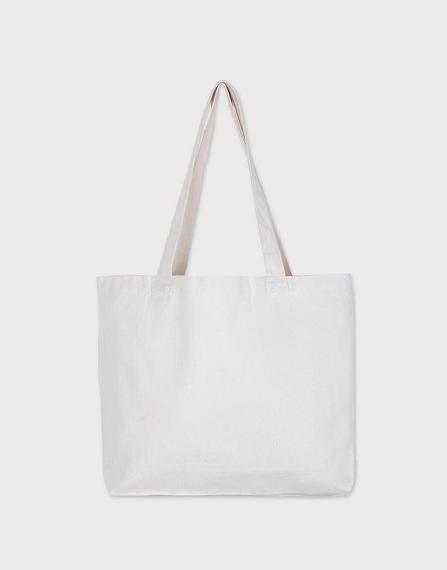 12安厚帆布單層加大橫式袋 - 底12cm