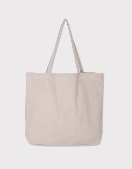 棉麻款│橫式側背布包│單層加大