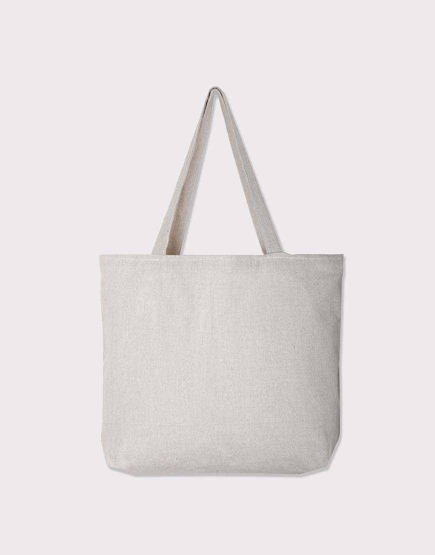 棉麻款│橫式側背布包│雙層