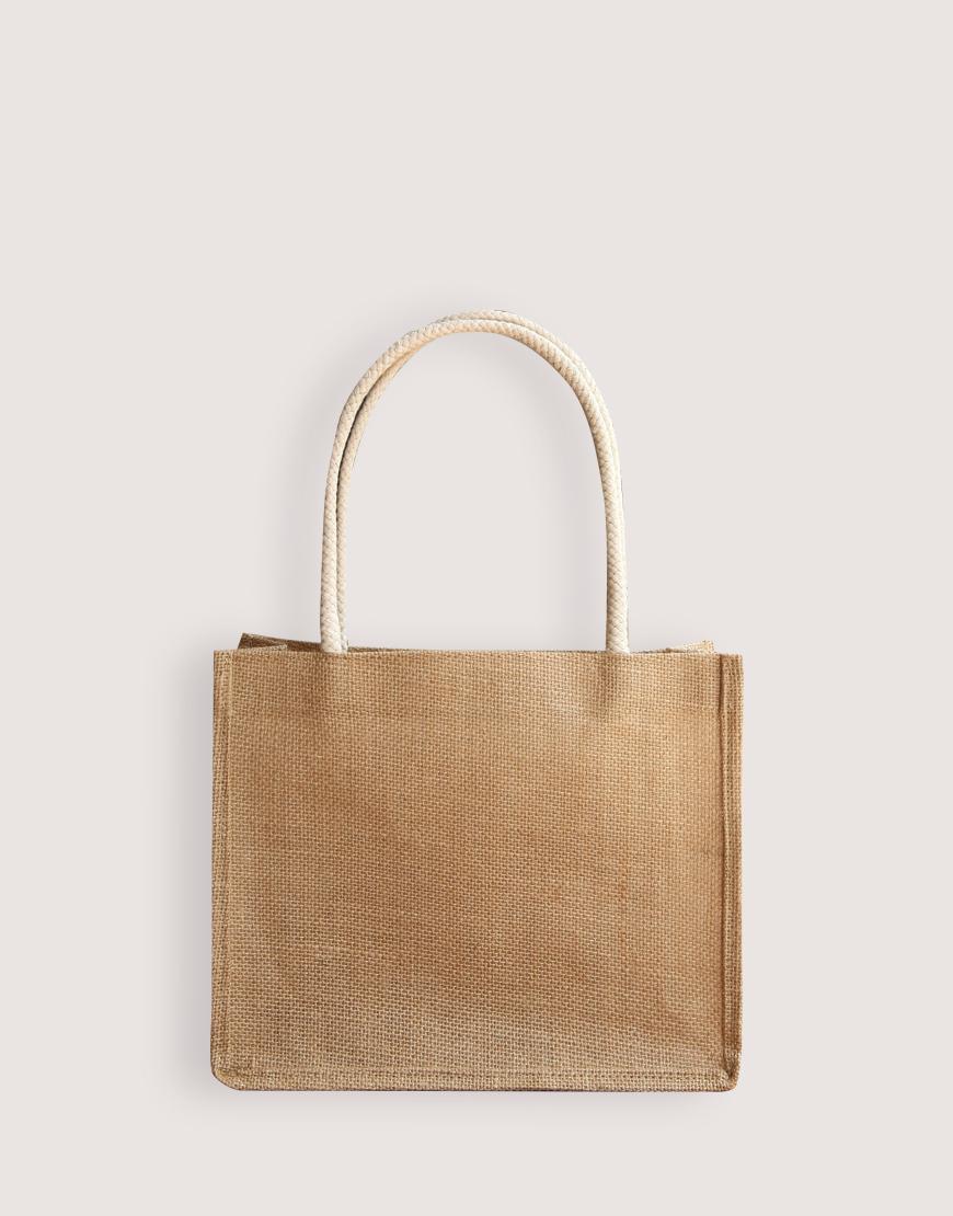 橫式粗麻手提袋│3種尺寸