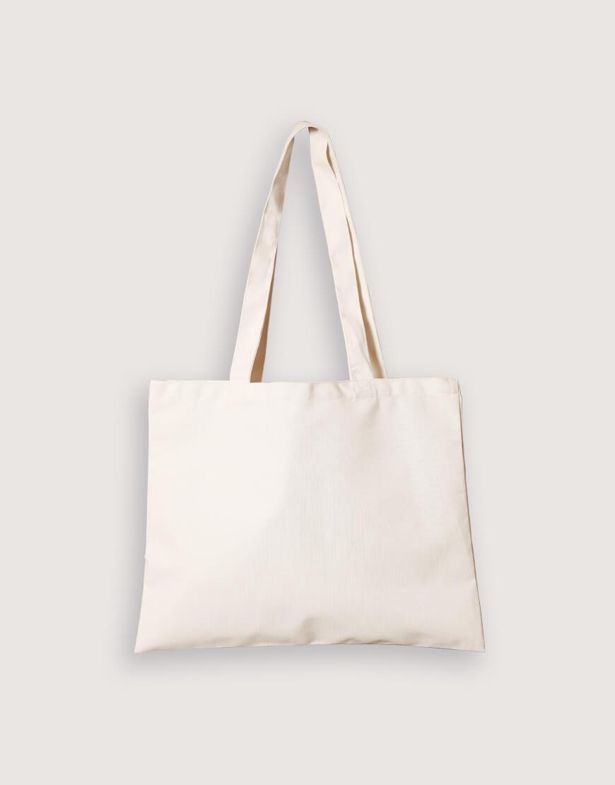 帆布橫式袋 8安輕帆布 單層 淺漿