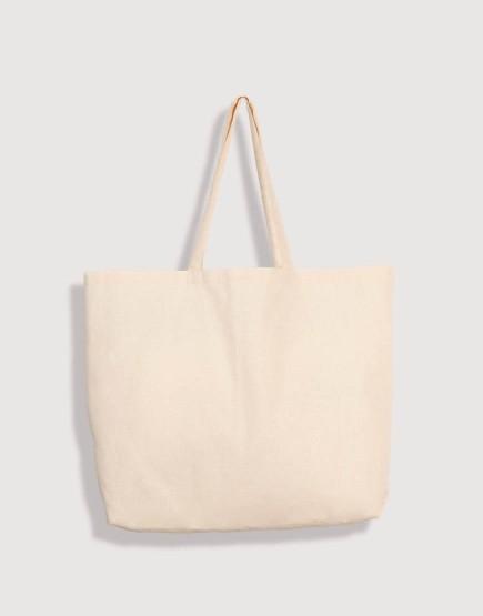 大容量 混紡棉橫式有底無側袋