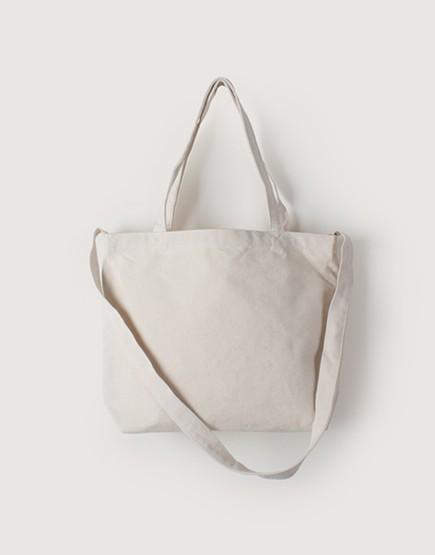 帆布橫式兩用袋 | 中帆布