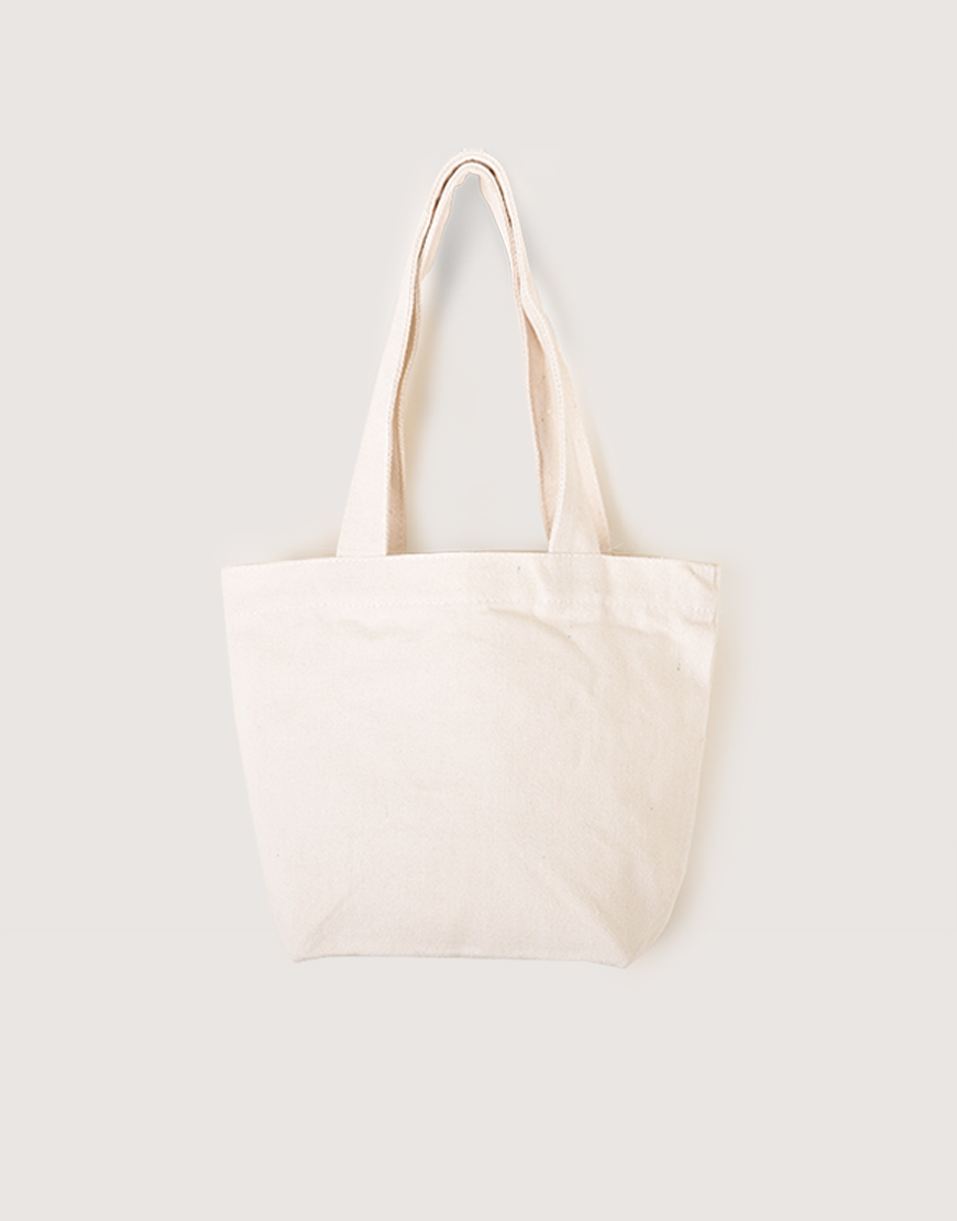 帆布雙杯裝小提袋│米白色│小提袋