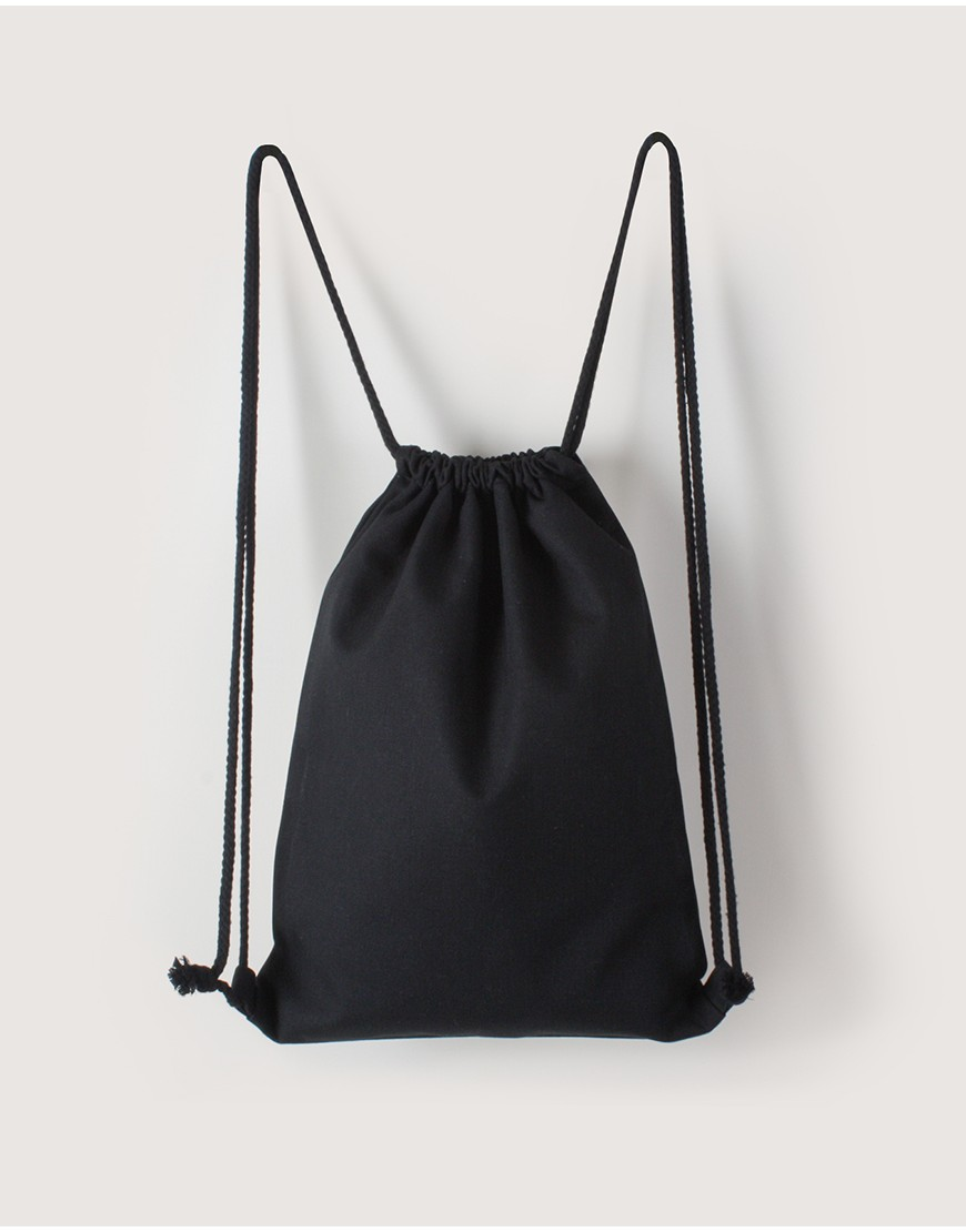 束口後背包 | 中帆布 | 黑色