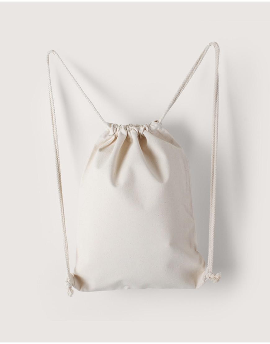 束口後背包 | 中帆布 | 米白色