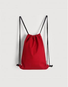 | 缺貨 | 束口後背包│紅色│八色帆布