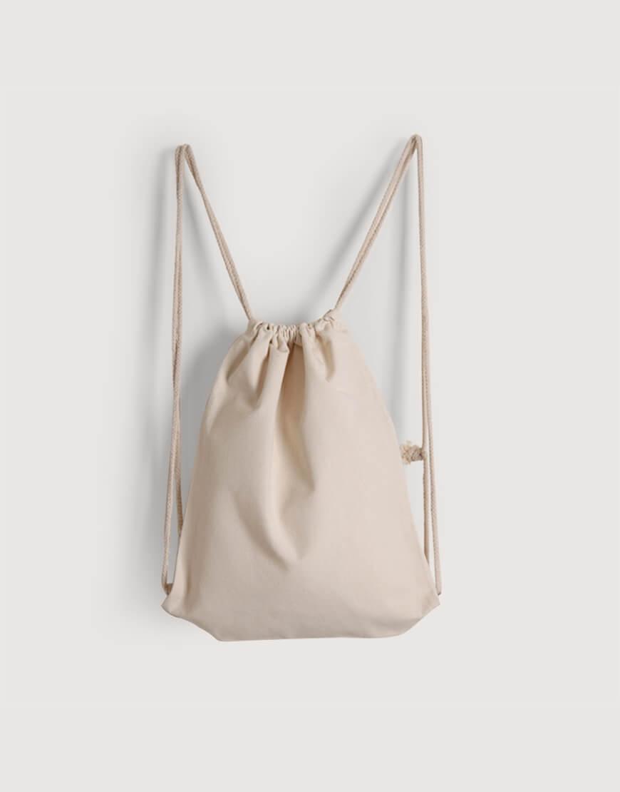 束口後背包 | 厚帆布 | 米白色