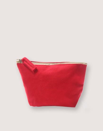 帆布有底化妝包 | 紅色