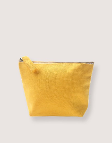 帆布有底化妝包 | 黃色