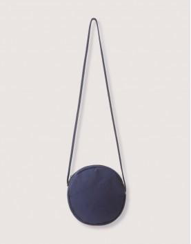 圓形厚帆斜背小包 藍/黑/卡其