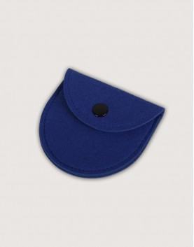 羊毛氈零錢袋 | 半圓形 | 深藍色