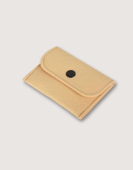 羊毛氈零錢袋 | 長方形 | 駝色
